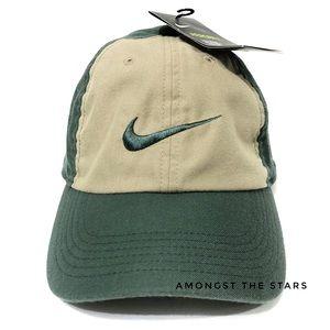 Nike Aerobill Heritage H86 Khaki & Green Dad Hat